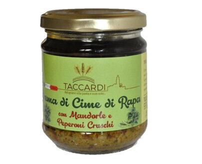 Crema di Cime di Rapa con Mandorle e Peperoni Cruschi